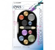 LA Colors 10 Color Eyeshadow - Carded