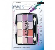 LA Colors 12 Color Eyeshadow Palette - Carded