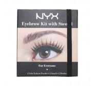 NYX Cosmetics EYEBROW KIT WITH STENCIL