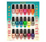 NYX Cosmetics  NAIL POLISH SET - THE HEAT IS ON