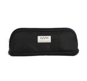 NYX Cosmetics BLACK SMALL DOUBLE ZIPPER MAKEUP BAG