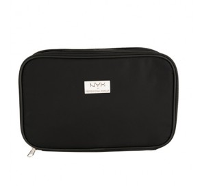 NYX Cosmetics BLACK LARGE DOUBLE ZIPPER MAKEUP BAG