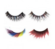 RED CHERRY Glitter Rhinestone /Party Lashes